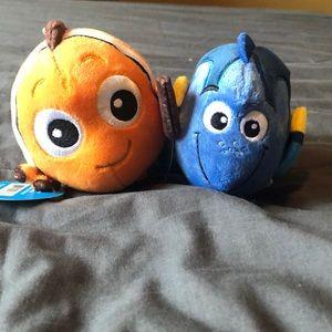 Disney Fluffballs, Nemo and Dory